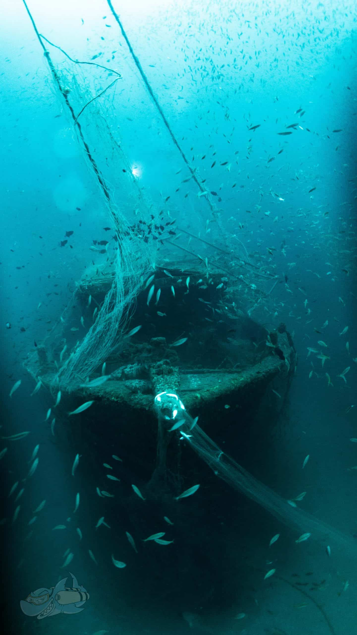 Front view of the Trawler wreck