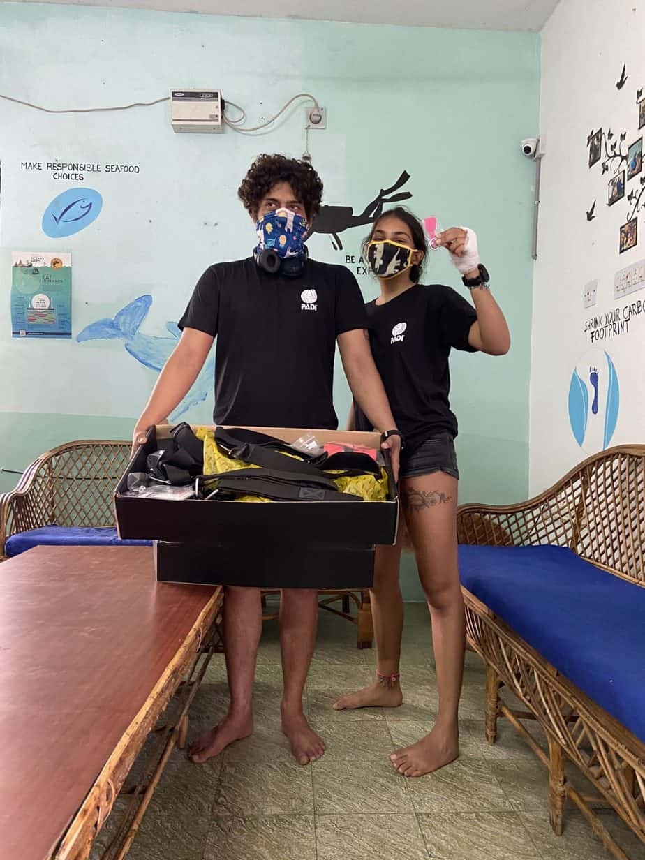 Sidemount diving in India